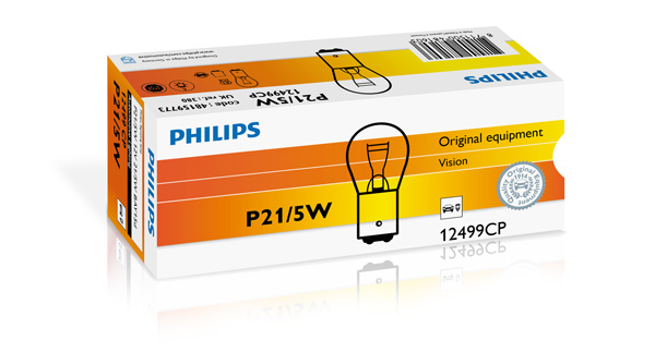 AMPOULE, FEU CLIGNOTANT PHILIPS P21/5W12499CP
